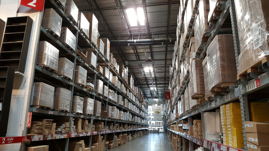 armazenagem de materiais em logística